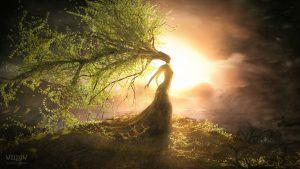 """Le chant de la Terre - Shamane : La Lumière intérieur d'une shamane relie les Êtres Humains aux mondes subtils; esprits de la nature, divinités du Ciel et de la Terre, Âmes... Ellea une perception du monde dans sa globalité, holistique en mon sens. Elle est à la fois """"sage, thérapeute, conseillère, guérisseuse et bien plus... »"""